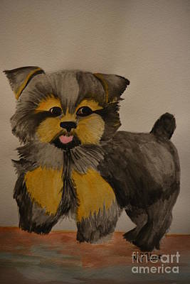 Yorkie Youth Art Print by Maria Urso