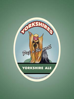 Beer Drawings - Yorkshire Ale by John LaFree