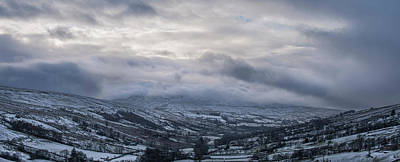 Photograph - Yorkshire Dales Snow Clouds by Nancy Lisa Phillips