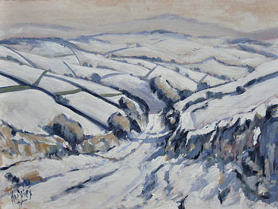Painting - Yorkshire In The Snow by Nop Briex