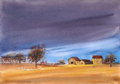 Painting - Yorkshire Landscape by Asha Sudhaker Shenoy