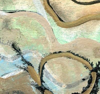 Abstract Map Drawing - Yorkshire Moors Map 1 by Elizabetha Fox
