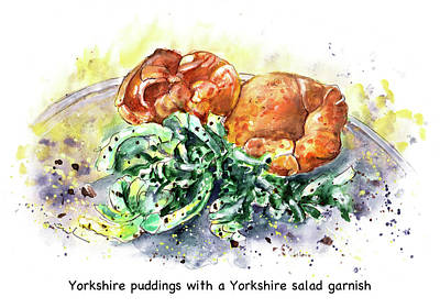 Painting - Yorkshire Puddings With Yorkshire Salad Garnish by Miki De Goodaboom