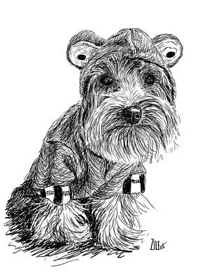 Digital Art - Yorkshire Terrier @cookieodogg by ZileArt
