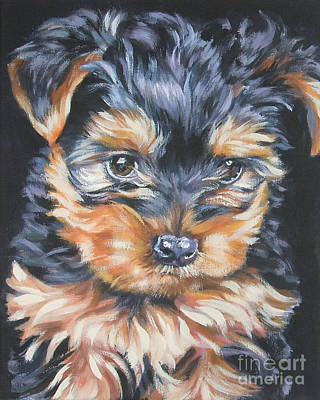 Yorkshire Terrier Wall Art - Painting - Yorkshire Terrier Pup by Lee Ann Shepard