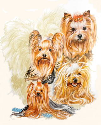 Yorkshire Terrier W/ghost Original by Barbara Keith