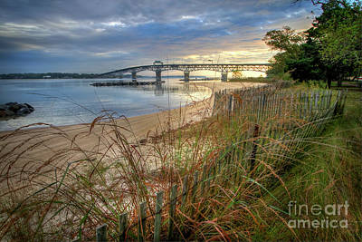 Photograph - Yorktown Beach Sunrise Virginia by Karen Jorstad