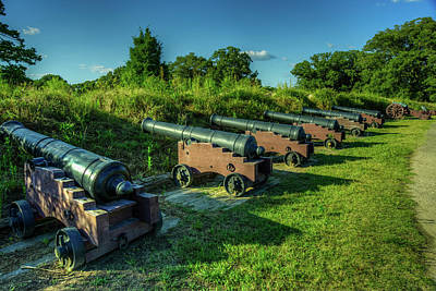 Photograph - Yorktown Cannons by Pete Federico