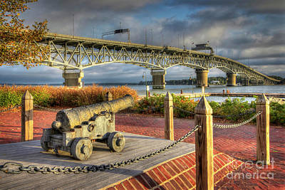 Photograph - Yorktown Canon Near Coleman Bridge Yorktown Virginia by Karen Jorstad