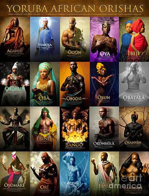 Yoruba African Orishas Poster Art Print by James C Lewis