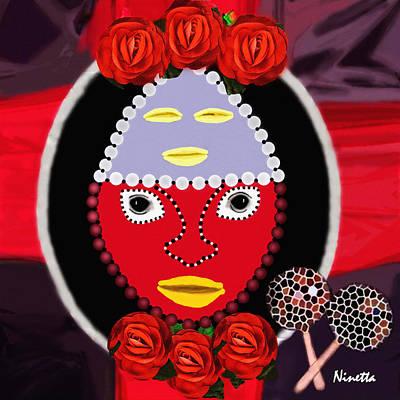 Yoruba Digital Art - Yoruba Collection  Eleggua by Andrea N Hernandez