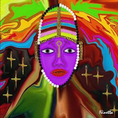 Yoruba Digital Art - Yoruba Collection Oya by Andrea N Hernandez