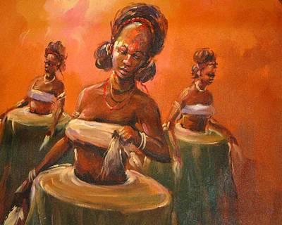Yoruba Photograph - Yoruba Dancers by Kehinde Thompson