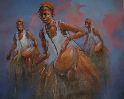 Yoruba Photograph - Yoruba Drumers by Kehinde Thompson