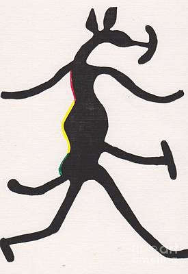 Mascot Drawing - Yoruba Hunting Mascot by Mia Alexander