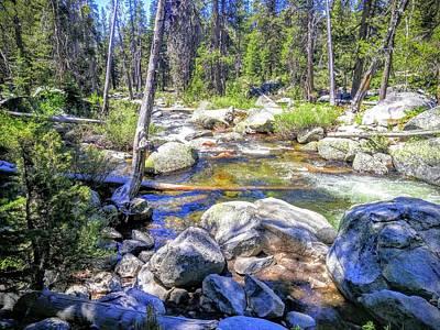 Photograph - Yosemite Boulder Stream by Richard Yates