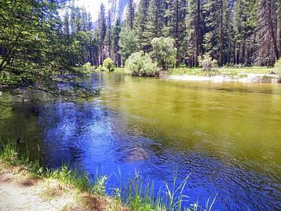 Photograph - Yosemite River by Richard Yates