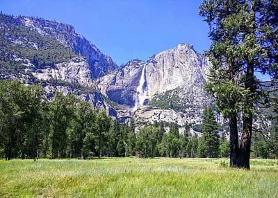 Photograph - Yosemite Valley Waterfall by Richard Yates