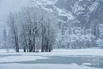 Art Print featuring the photograph Yosemite - A Winter Wonderland by Sandra Bronstein