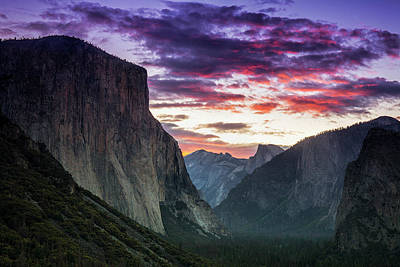 Photograph - Yosemite After Sunset by Andrew Soundarajan