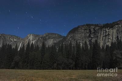 Yosemite At Night Art Print by Richard Verkuyl