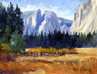Yosemite Painting - Yosemite Autumn Morning by Karin Leonard