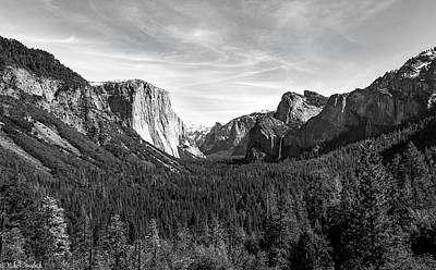Photograph - Yosemite B/w by Mike Ronnebeck