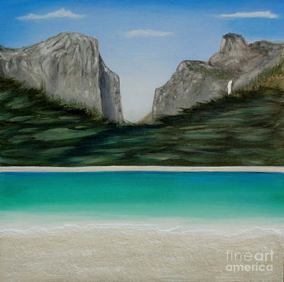 Painting - Yosemite Beach by John Lyes