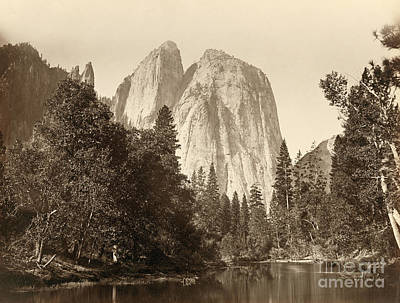 Photograph - Yosemite, Cathedral Rocks.  by Granger