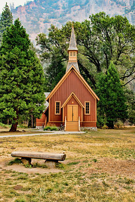 Photograph - Yosemite Chapel by Kristia Adams