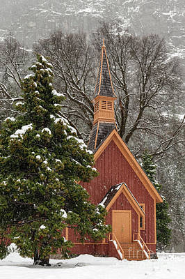 Photograph - Yosemite Church In Winter Snow by Tibor Vari