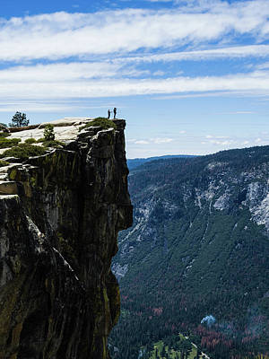 Photograph - Yosemite Cliffs by Walt Sterneman