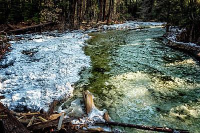 Yosemite Creek With Some Frazil Ice Art Print by Belinda Greb