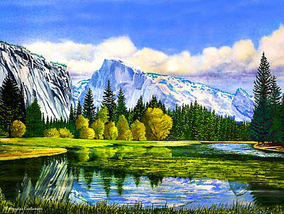 Half Dome Painting - Yosemite Early Spring by Douglas Castleman