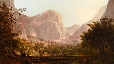 Native Painting - Yosemite Encampment by Celestial Images
