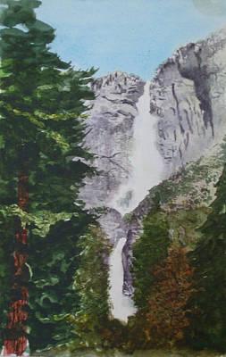 Painting - Yosemite Falls 1 by Ally Benbrook