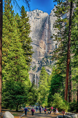 Photograph - Yosemite Falls 7r2_dsc2432_10082017 by Greg Kluempers