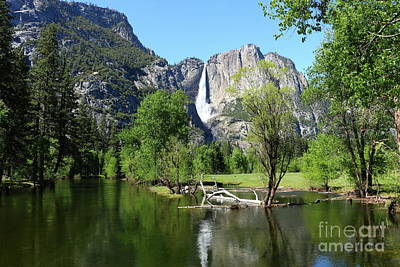 Photograph - Yosemite Falls And Merced River by Christiane Schulze Art And Photography