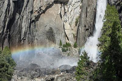 Photograph - Yosemite Falls And Rainbow by Greg Nyquist