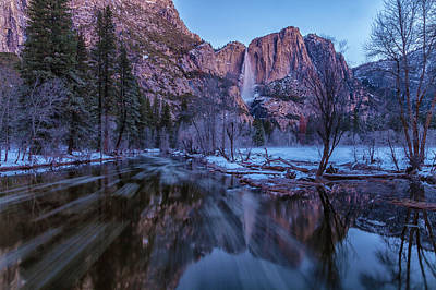 Photograph - Yosemite Falls At Early  Dawn by Jonathan Nguyen