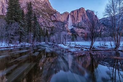 Photograph - Yosemite Falls At Early  Dawn by Jonathan Nguyen
