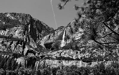 Photograph - Yosemite Falls Black And White by Judy Vincent
