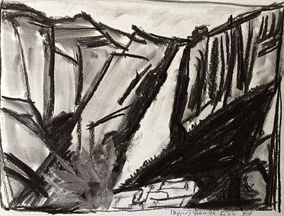 Drawing - Yosemite Falls by Brenda Pressnall
