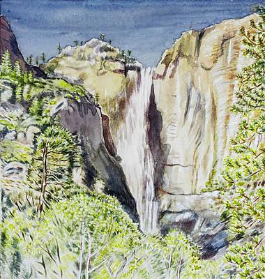 Yosemite Falls California Art Print by Patricia Buckley