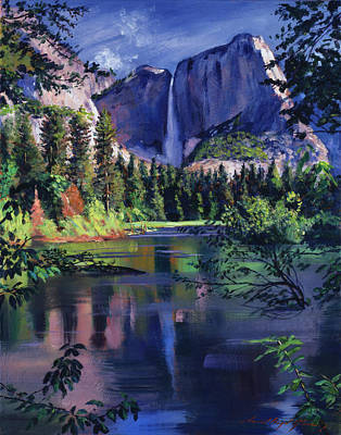 Yosemite Painting - Yosemite Falls by David Lloyd Glover