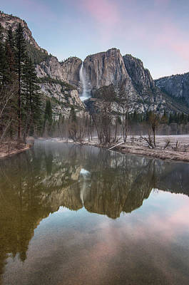 Photograph - Yosemite Falls Dawn In Winter by Greg Nyquist
