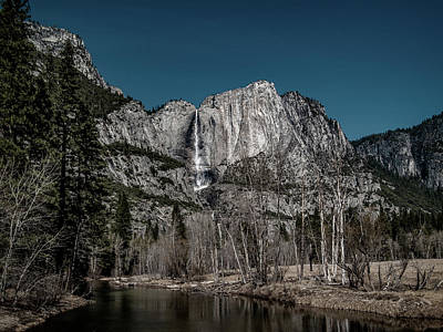Digital Art - Yosemite Falls Duotone by Bill Gallagher
