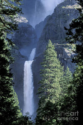 Art Print featuring the photograph Yosemite Falls In Spring by Stan and Anne Foster