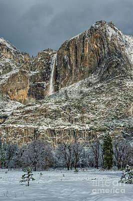 Photograph - Yosemite Falls In Winter Light by Tibor Vari
