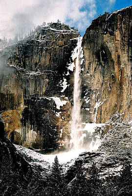 Yosemite Falls In Winter Art Print by Michael  Cryer